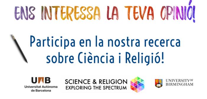 """Participa en l'estudi """"Ciència i Religió: Perspectives Globals"""""""